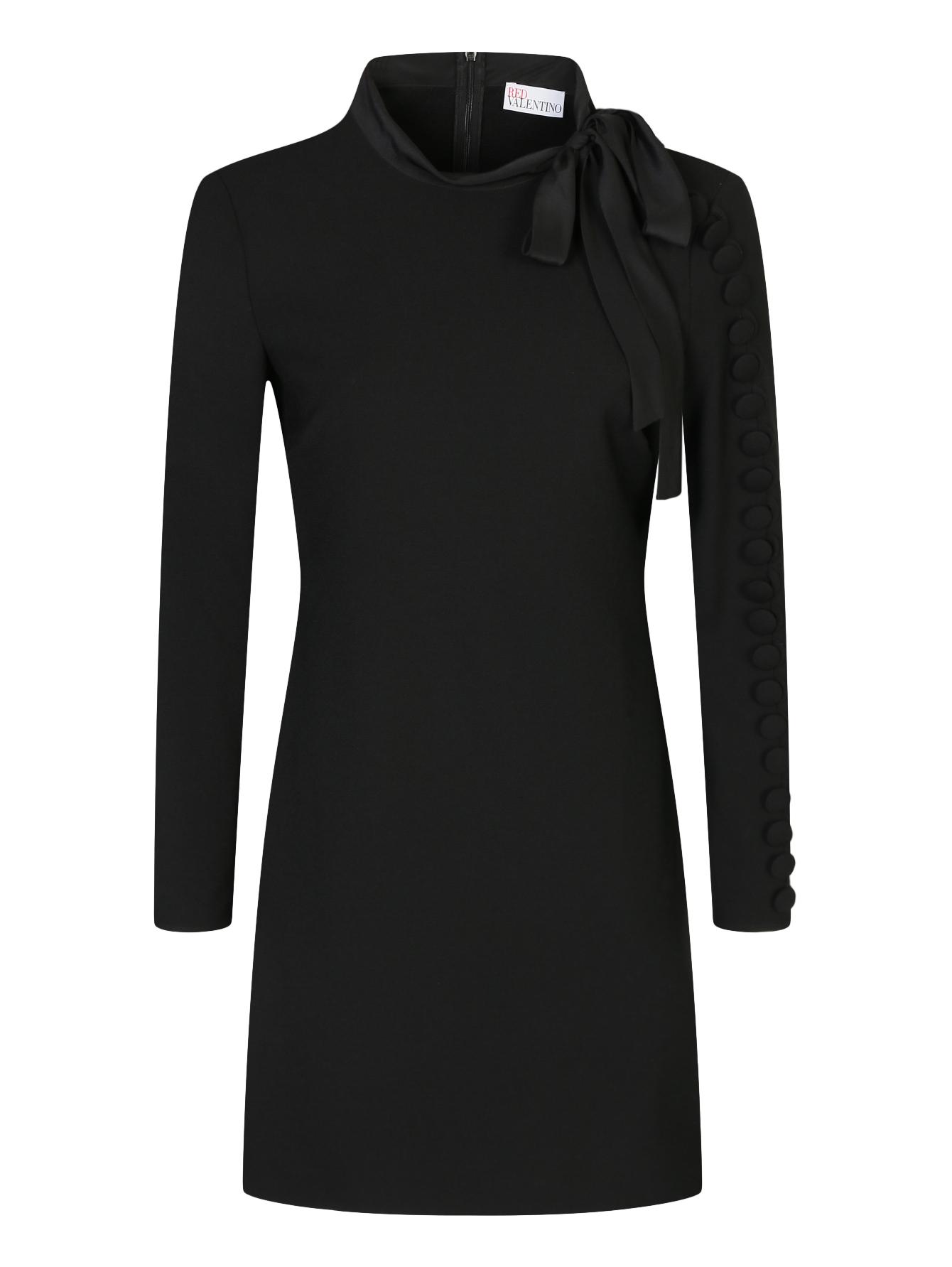 e14177a5c61 Red Valentino черное платье-мини с декоративными пуговицами (425571 ...