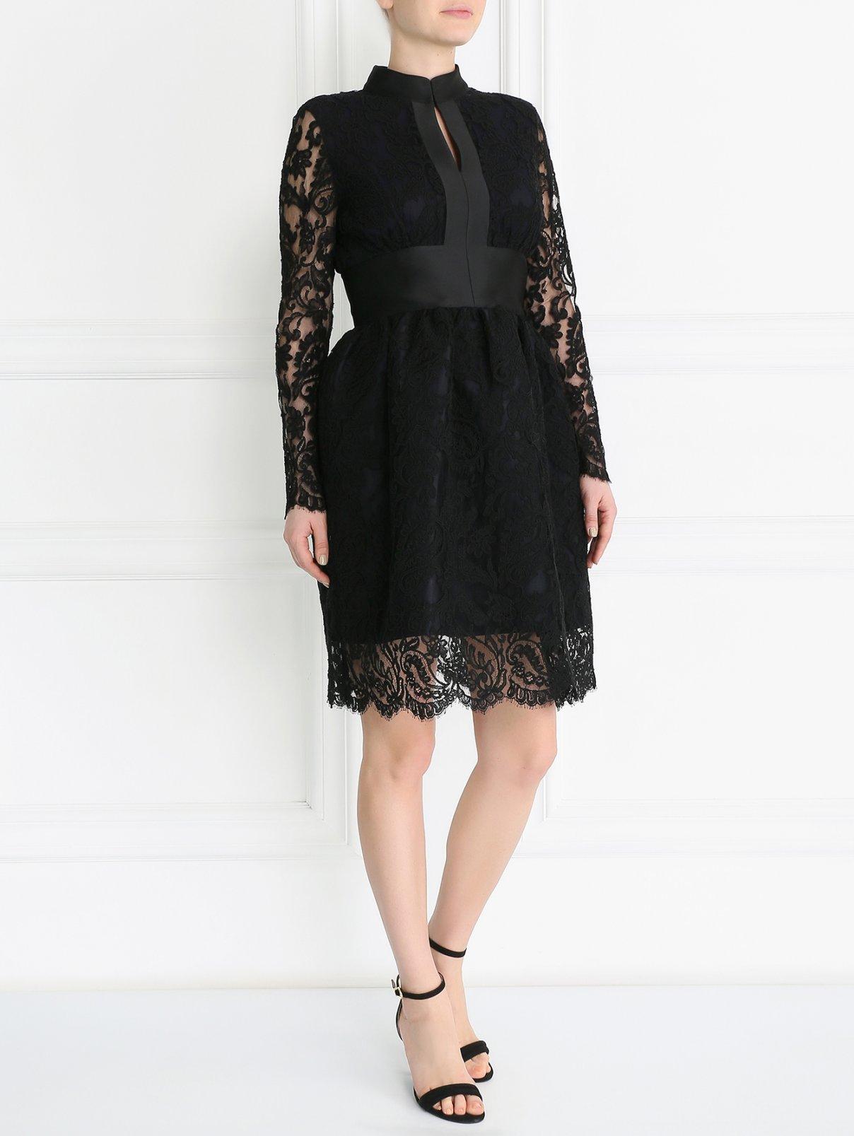 Черное платье хлопок кружево ткань непромокаемая купить в екатеринбурге