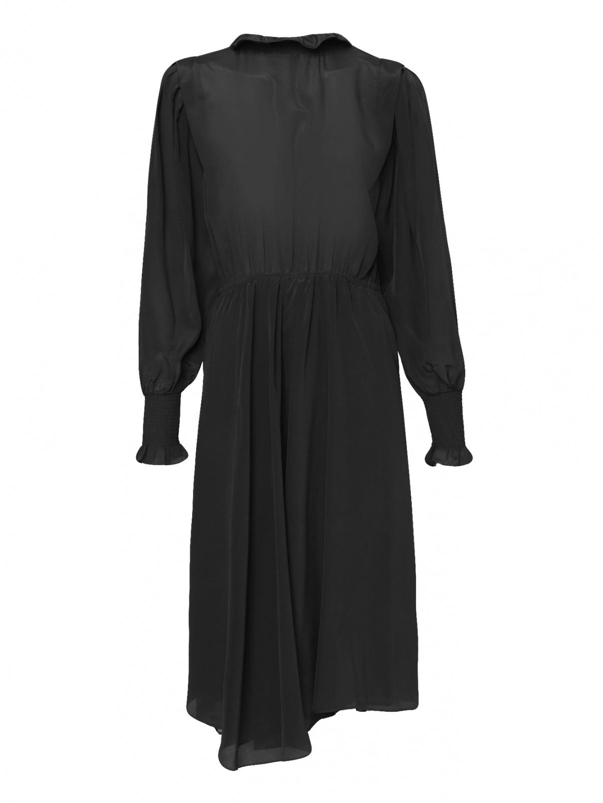 Платье-миди из шелка Isabel Marant  –  Общий вид  – Цвет:  Черный