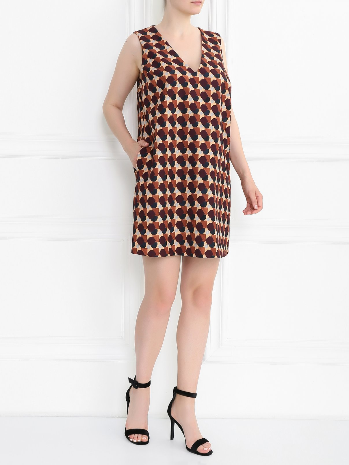 Платье-мини с узором Marina Rinaldi  –  Модель Общий вид