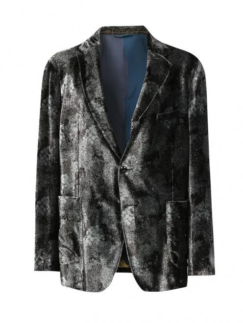 Пиджак однобортный с узором - Общий вид