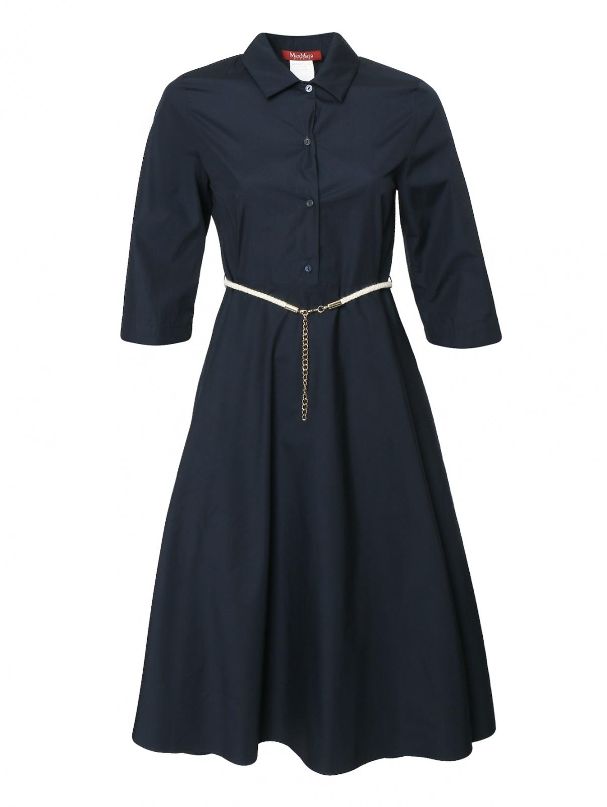 Платье-миди из хлопка с поясом Max Mara  –  Общий вид