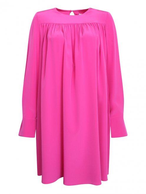 Платье из шелка свободного силуэта - Общий вид