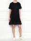 Платье свободного кроя с короткими рукавами Moncler  –  МодельОбщийВид
