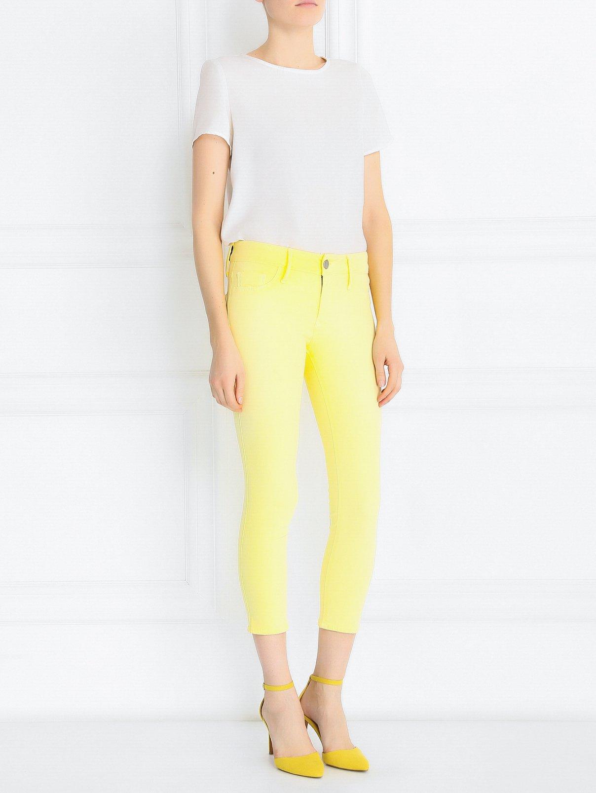 Укороченные джинсы узкого кроя Black Orchid  –  Модель Общий вид  – Цвет:  Желтый