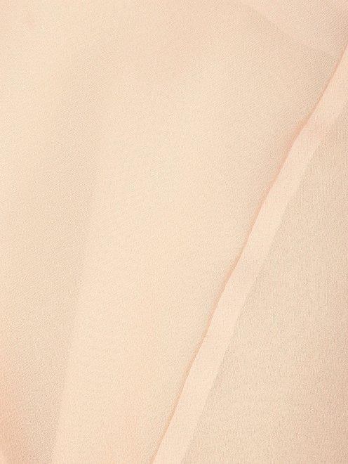 Блуза из шелка с v-образной горловиной - Деталь