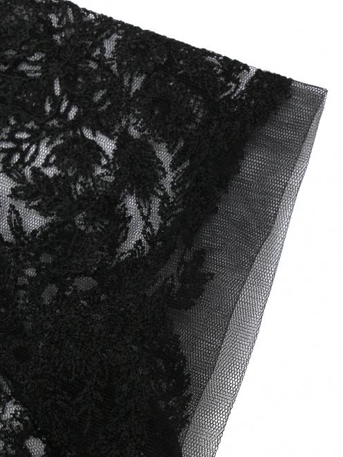 Платье из шерсти ,шелка и кашемира с кружевом - Деталь1