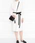 Платье-рубашка из хлопка с контрастным поясом Weekend Max Mara  –  МодельОбщийВид
