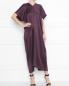 Платье-миди из шелка с короткими свободными рукавами Max Mara  –  МодельОбщийВид