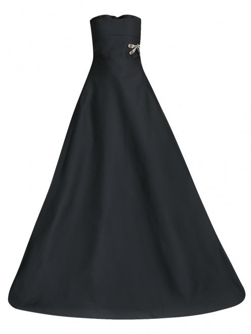 Платье-макси с декоративной аппликацией - Общий вид