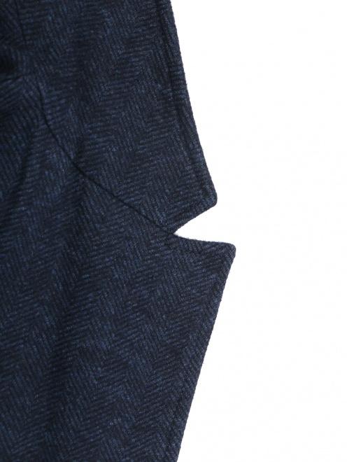 Трикотажный пиджак из смеси хлопка и шерсти  - Деталь1