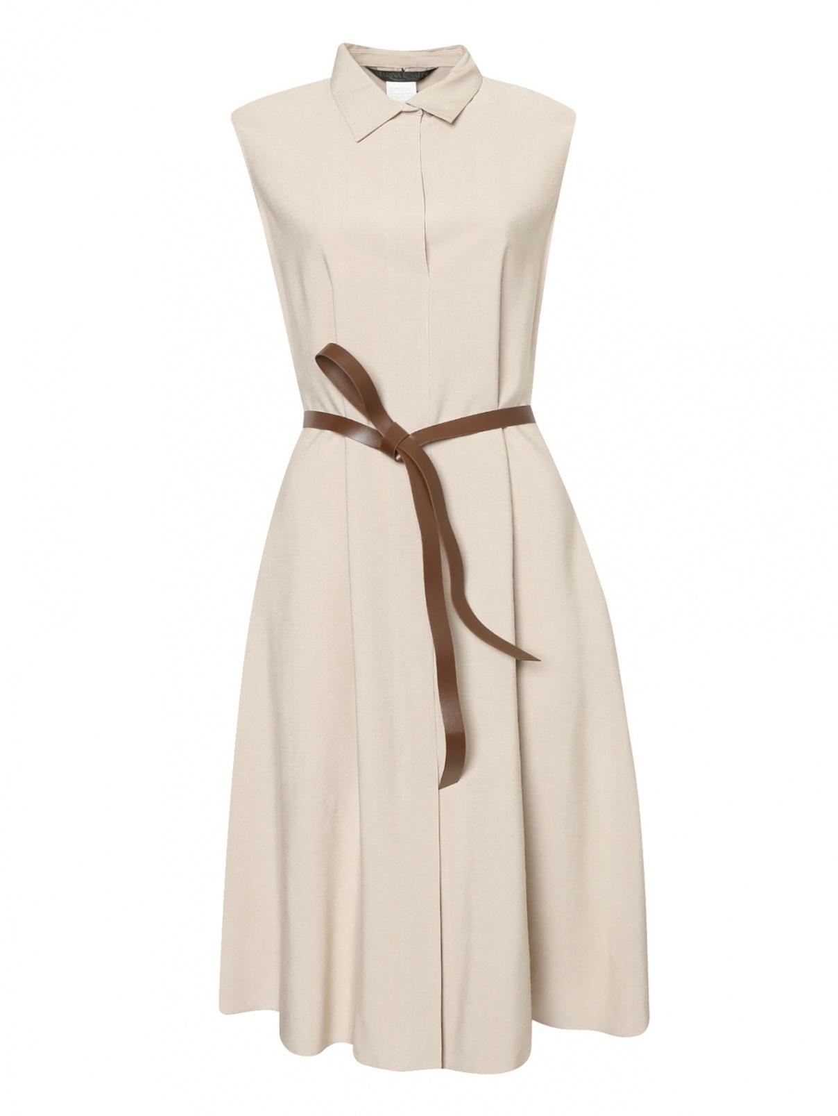 Платье-миди с поясом Marina Rinaldi  –  Общий вид