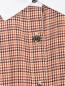 Платье-миди из хлопка с узором и контрастной отделкой Brooks Brothers  –  Деталь