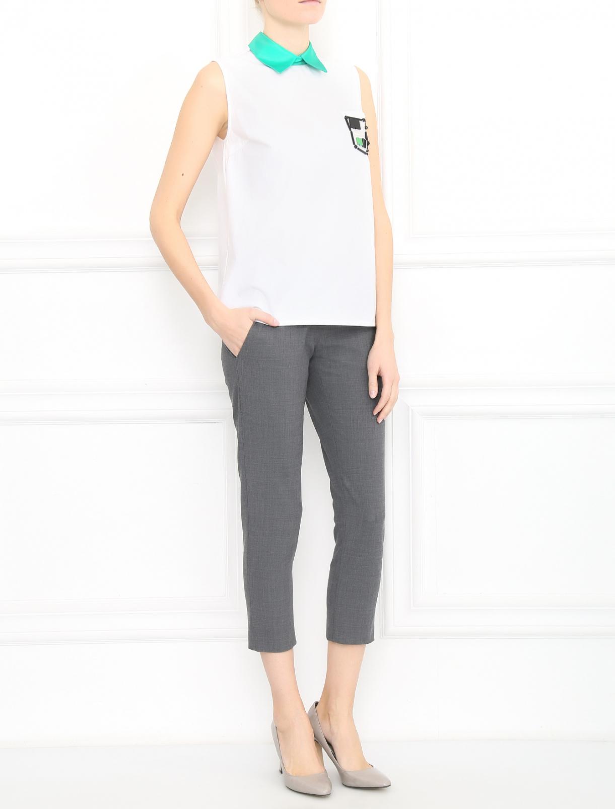 Рубашка из хлопка с декором Au Jour Le Jour  –  Модель Общий вид