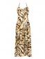 Платье-миди с узором и вырезом на спине Mariella Burani  –  Общий вид