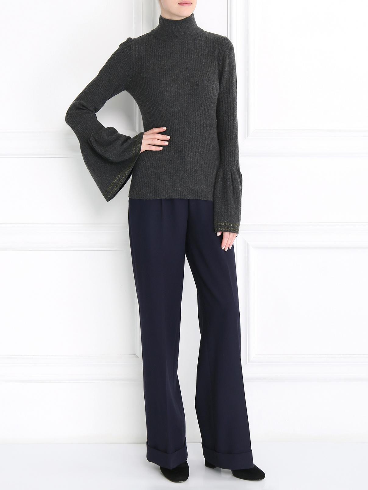 Джемпер с манжетами на рукавах Alysi  –  Модель Общий вид  – Цвет:  Серый