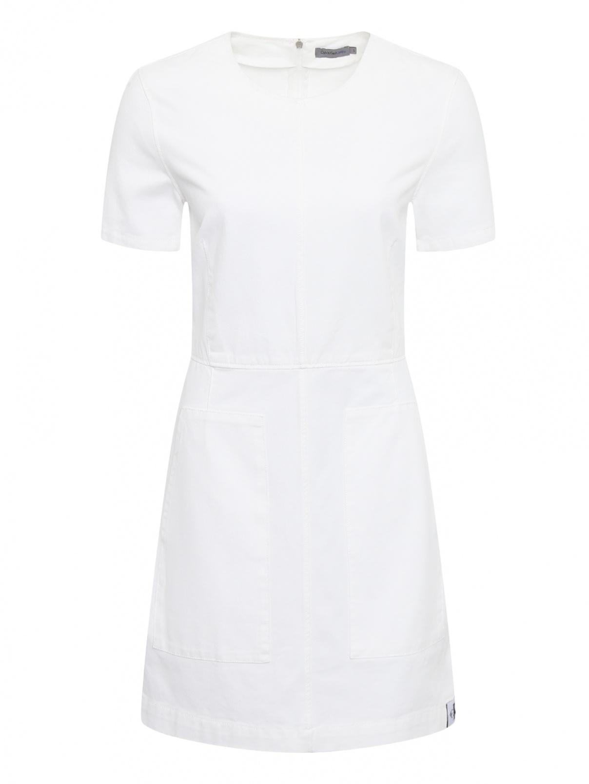 Платье из хлопка с накладными карманами Calvin Klein Jeans  –  Общий вид
