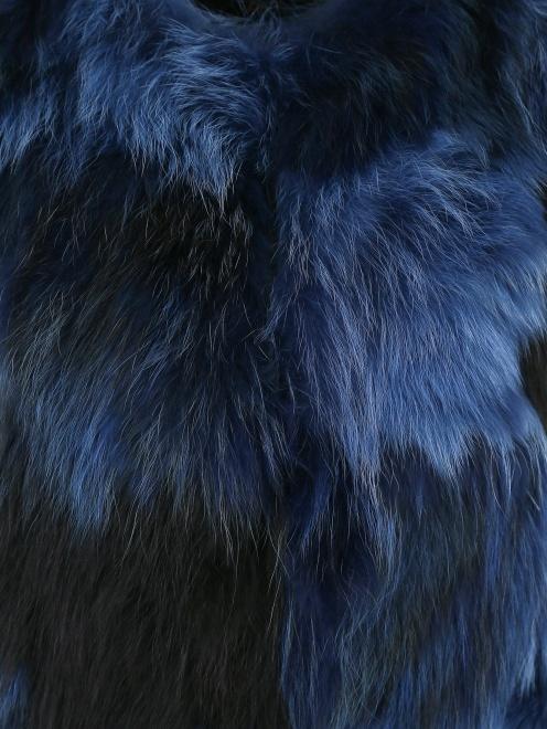 Жилет из меха енота - Деталь