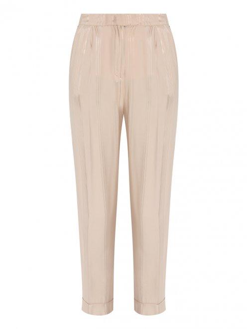 Укороченные брюки из вискозы с узором - Общий вид