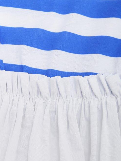Платье трикотажное с полосатым верхом - Деталь1