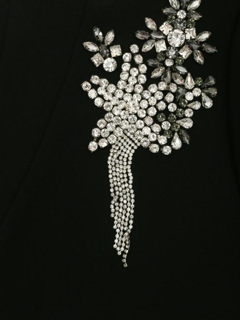 Платье-мини декорированное кристаллами - Деталь