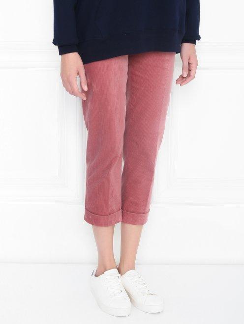 Вельветовые брюки из хлопка прямого кроя - МодельВерхНиз