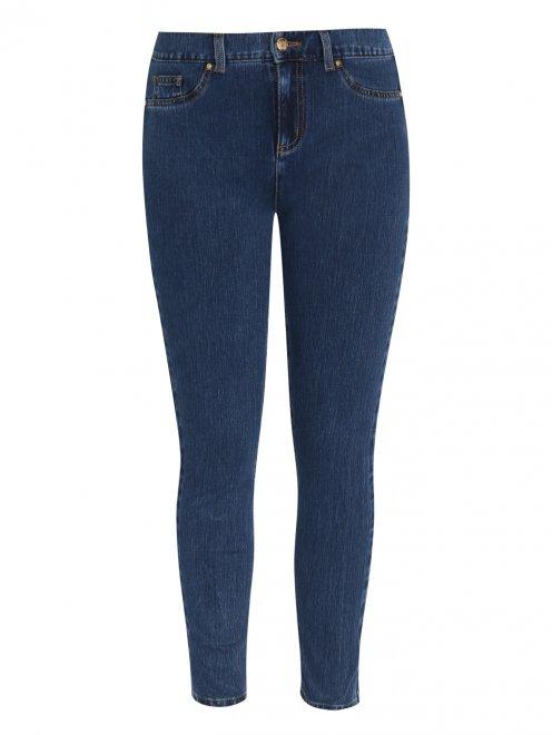 Зауженные джинсы из эластичного денима - Общий вид