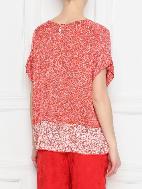 Блуза из ткани с принтом - МодельВерхНиз1