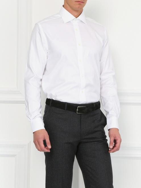 Классическая хлопковая рубашка  - Модель Верх-Низ