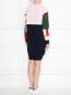 Трикотажное платье из шерсти с узором ICEBERG  –  МодельВерхНиз1
