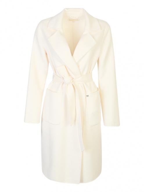Пальто-халат, из шерсти - Общий вид