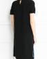 Платье-миди из шелка декорированное пайетками Yves Salomon  –  Модель Верх-Низ1