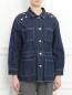 Куртка из денима декорированная стразами Sonia Rykiel  –  Модель Верх-Низ