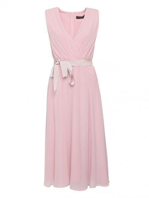 Платье из шелка с драпировкой - Общий вид