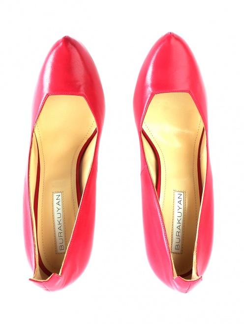 Туфли из кожи на высоком каблуке - Обтравка4