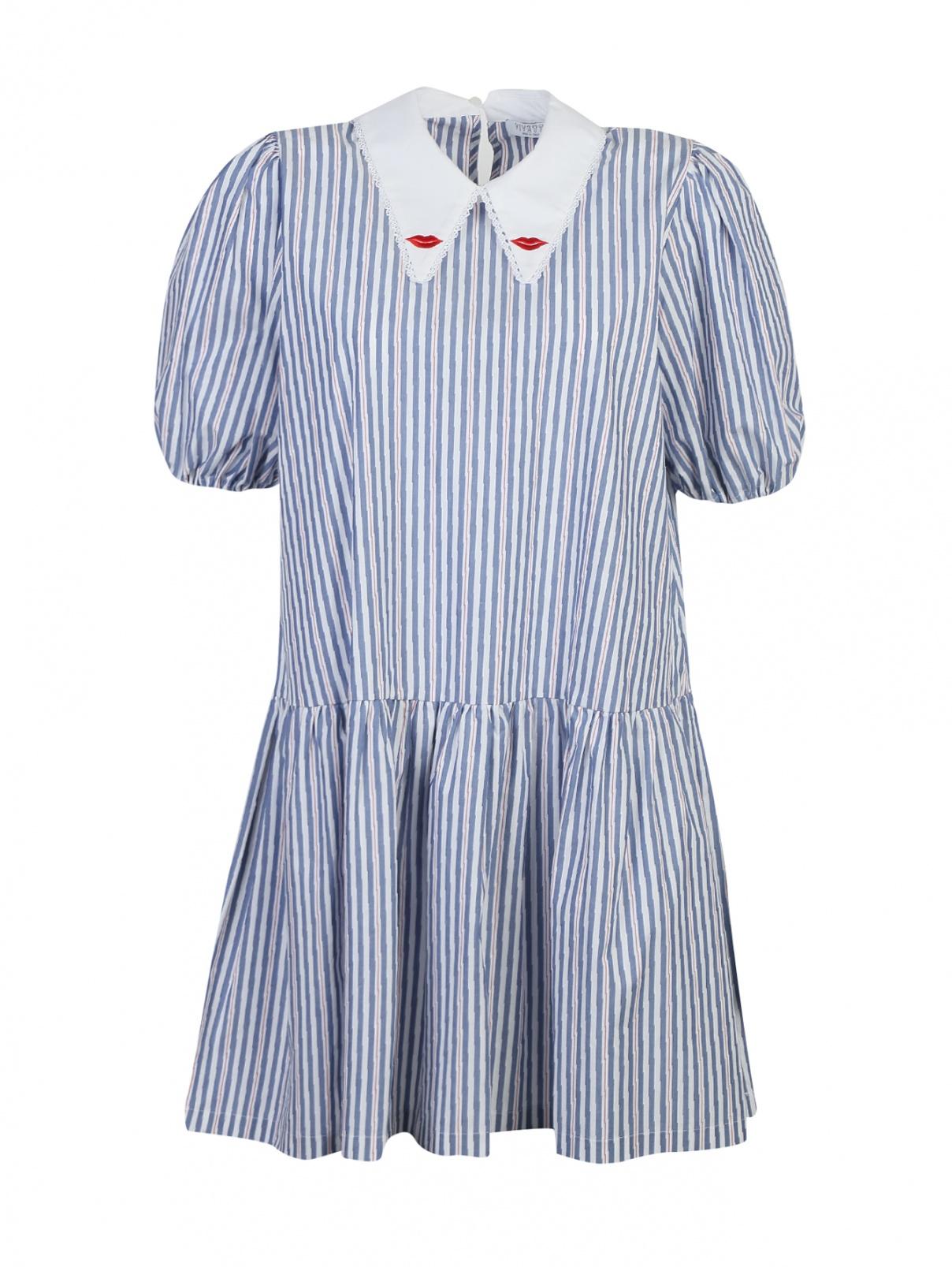 Платье из хлопка, с узором полоска Vivetta  –  Общий вид