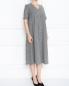 Платье из шерсти с узором и боковыми карманами Marina Rinaldi  –  МодельВерхНиз