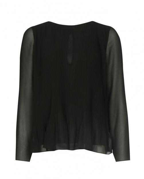Блуза с плиссировкой и длинным рукавом - Общий вид