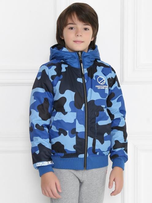 Куртка двухсторонняя с капюшоном - МодельВерхНиз