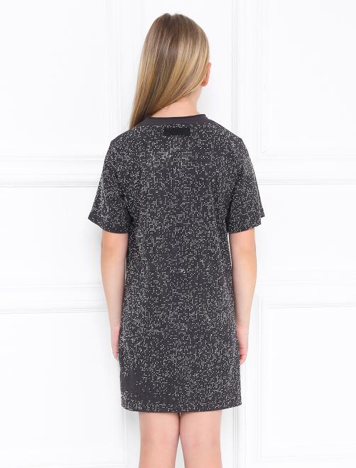 Платье трикотажное со стразами - МодельВерхНиз1