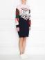 Трикотажное платье из шерсти с узором ICEBERG  –  МодельВерхНиз