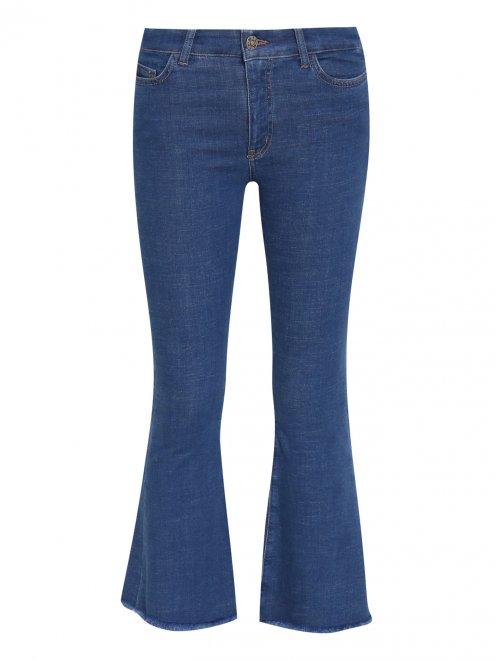 Расклешенные укороченные джинсы из эластичного денима - Общий вид