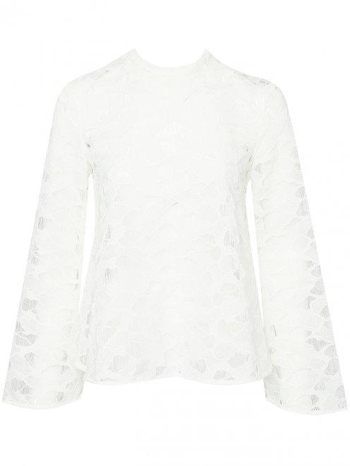 Полупрозрачная блуза свободного кроя - Общий вид