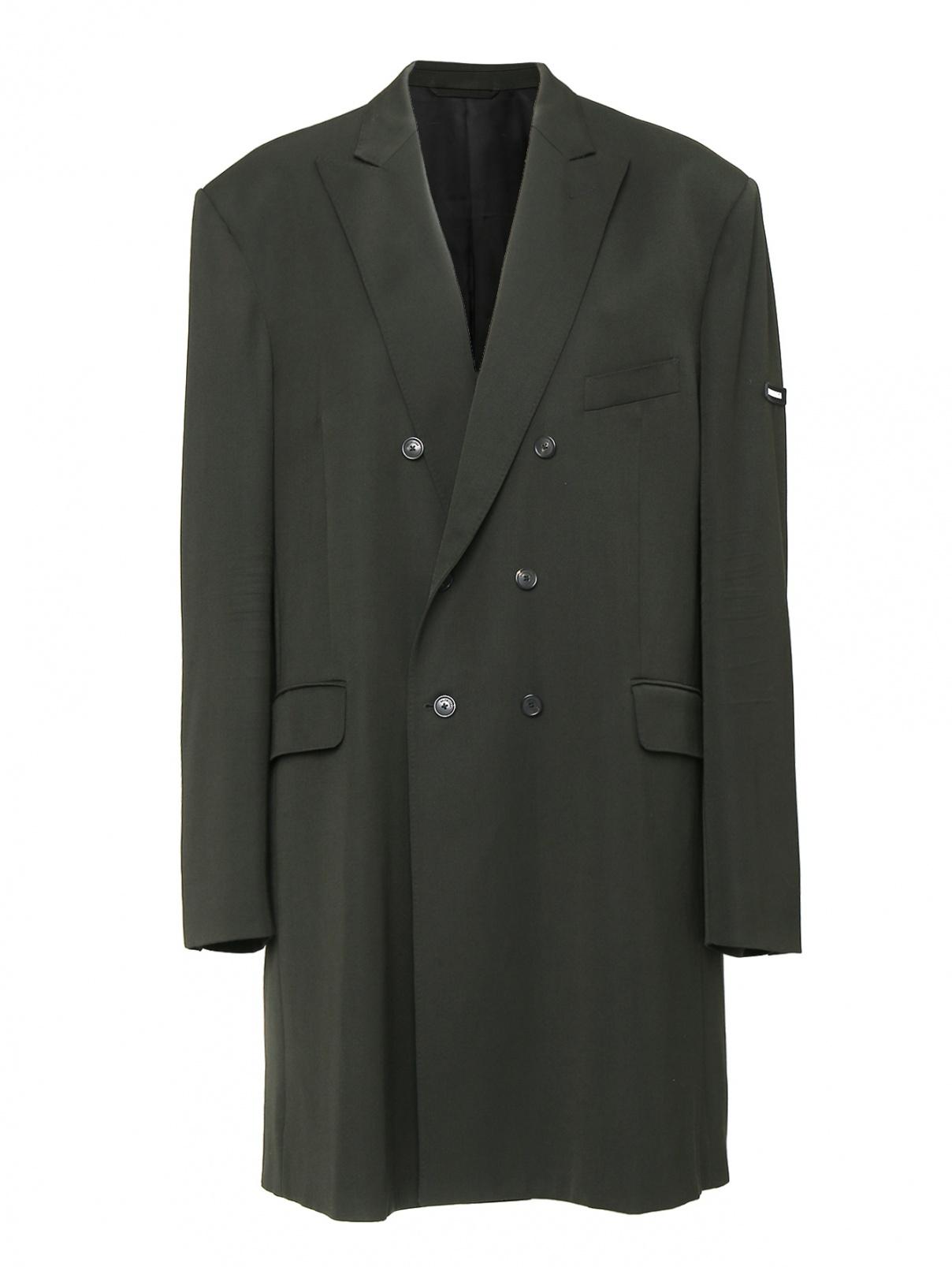 Пальто из шерсти Balenciaga  –  Общий вид  – Цвет:  Черный