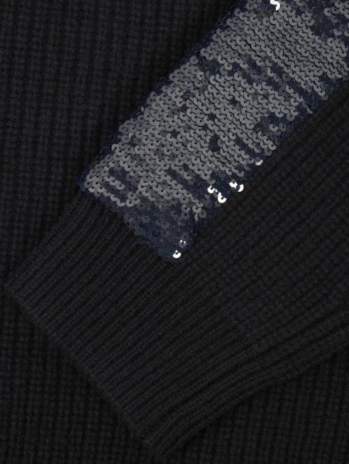 Свитер из шерсти декорированный пайетками - Деталь1