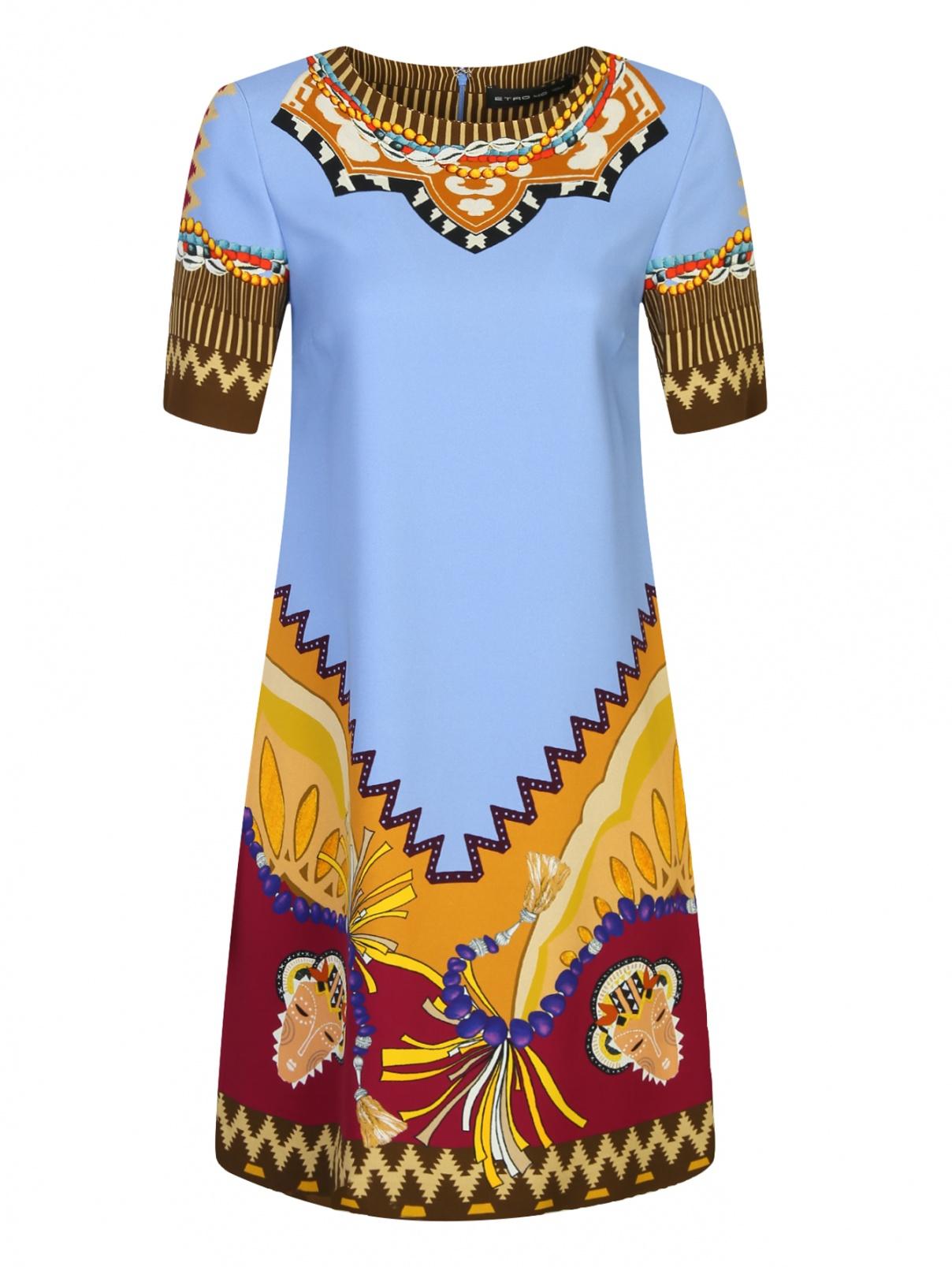 Платье прямого кроя с узором Etro  –  Общий вид