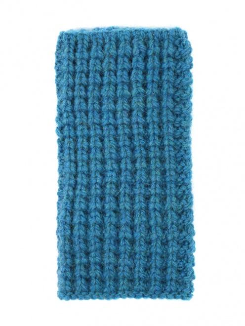 Перчатки-митенки из смешанной шерсти - Обтравка1
