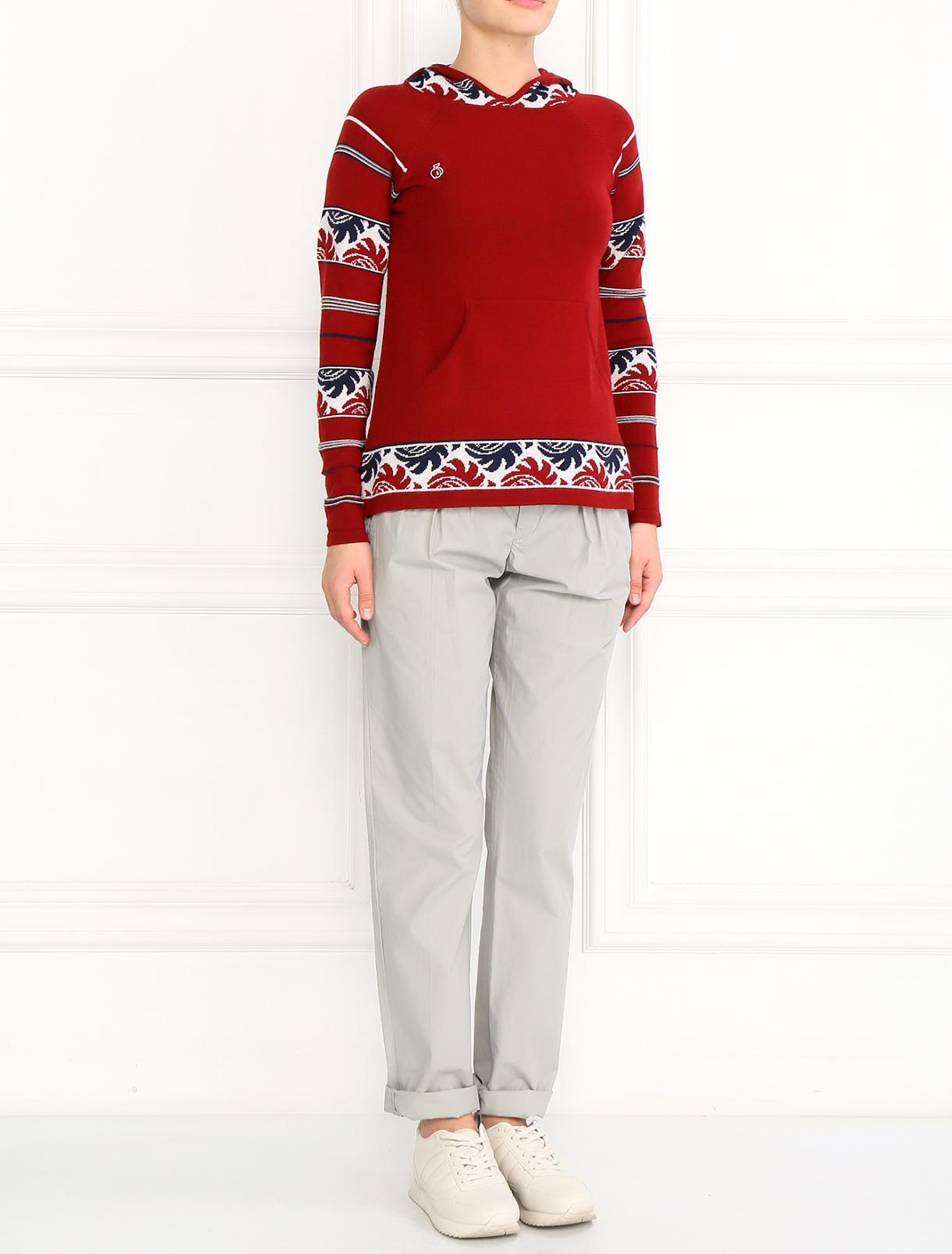 Джемпер из шерсти с капюшоном Bosco Fresh  –  Модель Общий вид  – Цвет:  Красный