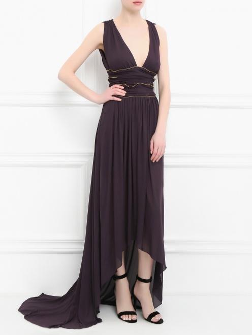 Платье-макси с драпировкой - Общий вид