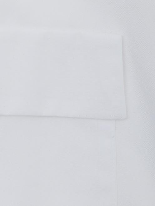 Блуза из хлопка, свободного кроя - Деталь